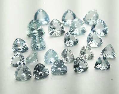 3mm Natural Aquamarine Loose Gemstone-Aquamarine 10mm Trillion Faceted Cut