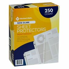 Members Mark Non Glare Poly Top Load Sheet Protectors 250 Use With 3 Ring Binders