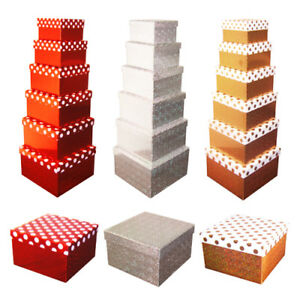 Details About Quality Holographic Decorative Polka Dot Birthday Gift Boxes Present Storage