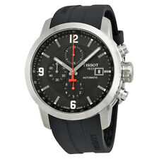 Tissot PRC 200  Automatic Black Dial Black Rubber Mens Watch T0554271705700