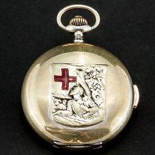 Repetition Taschenuhr Erster Weltkrieg Repeater pocket watch World War I Metall