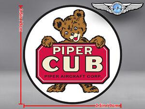 PIPER CUB LOGO ROUND DECAL / STICKER