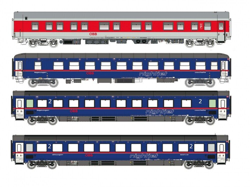 L.S. Models LS97035 4-tlg.-Set Nightjet, ÖBB, Epoche VI, Spur N NEU OVP