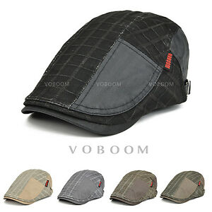 69ae32bc6 Details about VOBOOM Distressed Newsboy Gatsby Cap Mens Ivy Hat Golf  Driving Flat Cabbie Cap