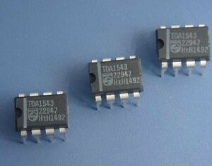 10pcs TDA1543 Dual 16-bit DAC Chip  DIP-8