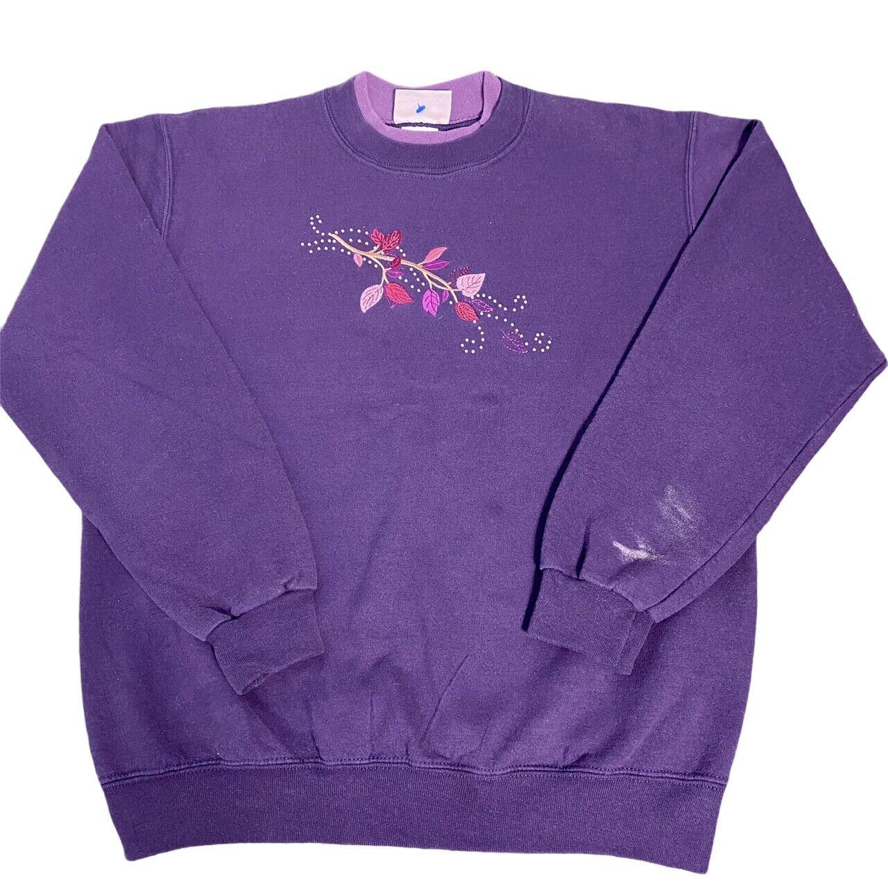 Purple American Vintage Day Breeze USA Grandma Double Collar Nature Sweatshirt