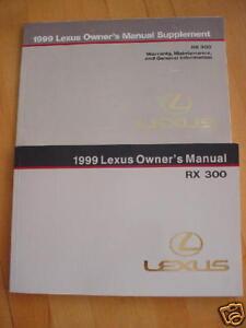 1999 lexus rx 300 owners manual 99 rx300 manual lexus ebay rh ebay com lexus rx300 owners manual pdf download lexus rx300 service manual