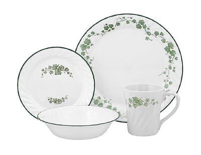 Corelle 16pc CALLAWAY IVY Dinnerware Set DINNER & BREAD Plates BOWLS & CUPS *NEW