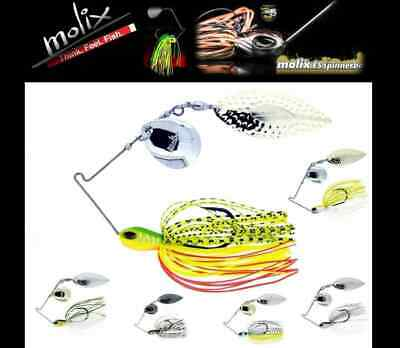 Molix FS Finesse Spinnerbait 1//2 oz Select Color Willow Tandem Blade