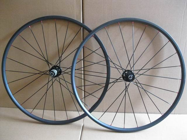 Carbon cyclocross wheels 700C 24mm tubular carbon bike wheelset disc brake hub