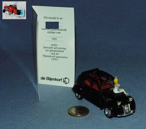 Vitesse Promo Bijenkorf 1/43: Citroen 2cv 1954 Pin-up Certificat Salon 1992