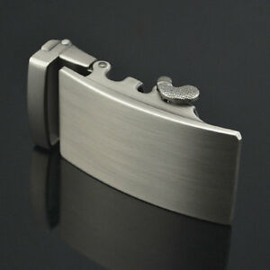 Silver-Tone-Smooth-Plain-Plate-Automatic-Buckle-for-3-6cm-Belt