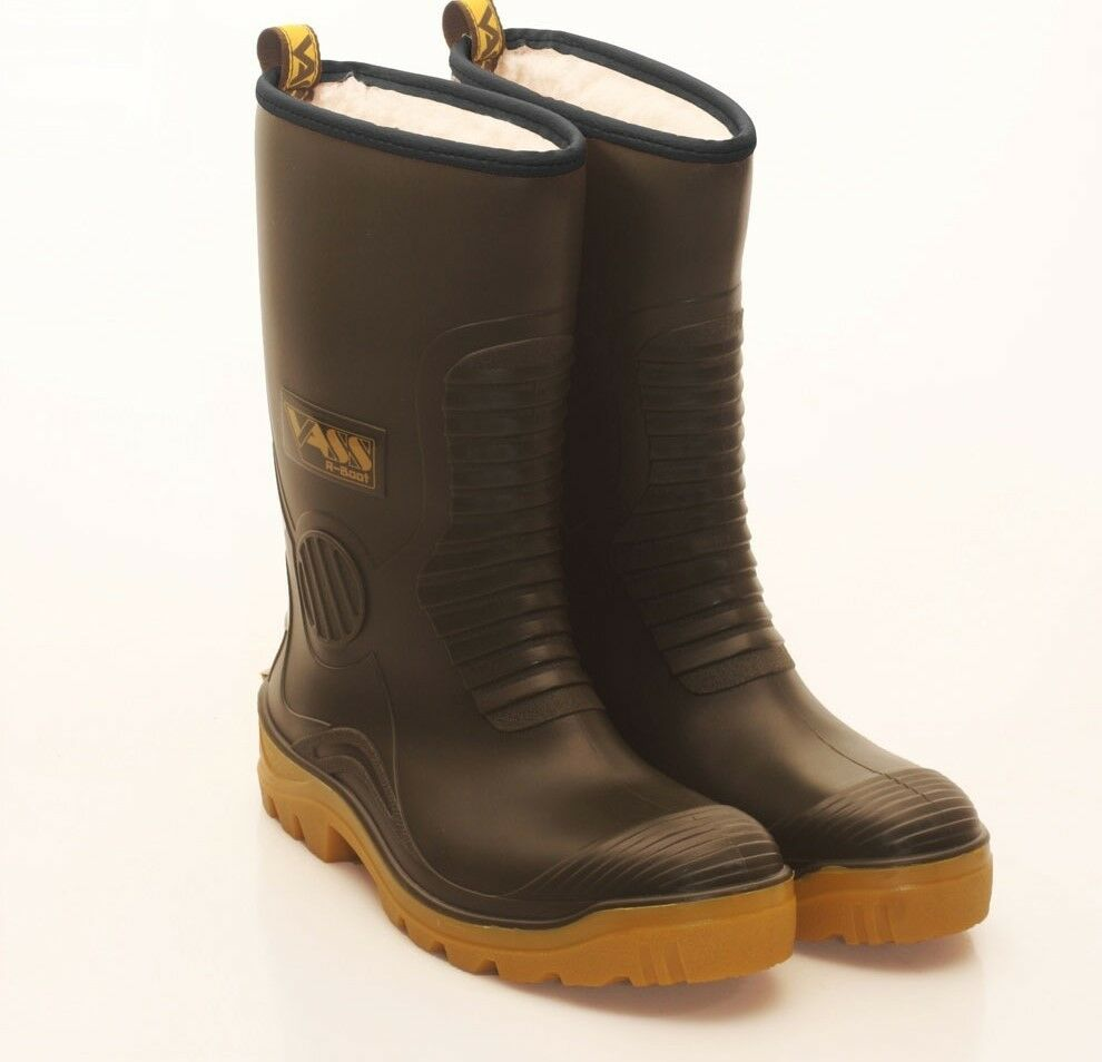 Vass NEW R-Boot (Fur Lined Waterproof Fishing Boot) STUDDED SOLE - All Sizes