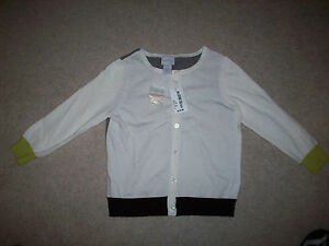 Rn108357 Up Cardigan Button Xs Maglione Grey Super Nwt Cute da White Neely qxP8gH0