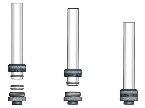 "Black Chrome XSPC G1//4/"" to 14//10mm PETG Triple Seal Fitting 8 Pack"