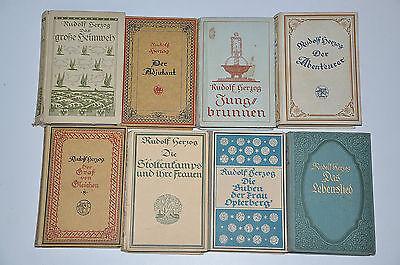 Bücherpaket 8x Rudolf Herzog alte Romane aus den 1920er