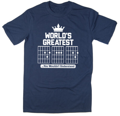 Guitar Chords World/'s Great DAD T-Shirt Funny T-Shirt 6 colours