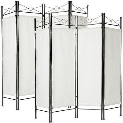 2x Raumteiler Paravent Trennwand Sichtschutz spanische Wand schwarz 4tlg