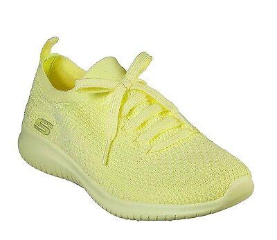 Skechers New Ultra Flex Pastel Fête jaune en mousse à mémoire de Chaussures Femme Baskets Taille 3 8 | eBay