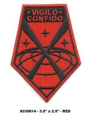 X-COM VIGILO CONFIDO - RED VEL-KRO PATCH - XCOM14V