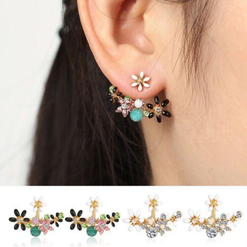 Princess Rhinestone Flowers Crystal Jewelry For Women Earrings Accessories