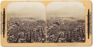 Panorama Da Napoli Italia Stereo Stereoview Vintage Analogica
