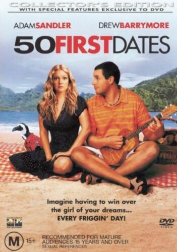 1 of 1 - 50 First Dates -COLLECTOR'S EDITION- DVD LIKE NEW FREE POSTAGE AUS REGION 4