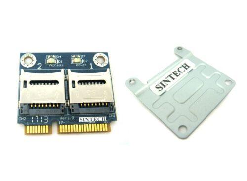 Sintech dual Micro SD//SDHC//SDXC to Mini PCIe PCI-e mPCIe Card reader adapter