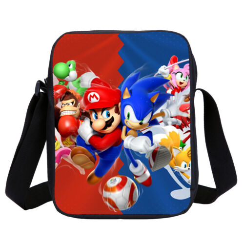 Mario Sonic Olympic Game Kid Backpack Insulated Lunch Bag Pen Case Sling Bag Lot