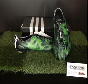 Adidas Adizero F50 Trx Fg-Negro verde Reino Unido 6.5, 7, nos