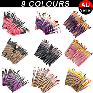 20-PCS-Foundation-Eyeshadow-Eyeliner-Powder-Make-up-Brushes-Set-Tool-AU