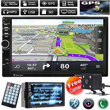 """7"""" auto di navigazione GPS 2 DIN Lettore MP5 Radio Stereo Bluetooth FM/TV iPod + fotocamera"""