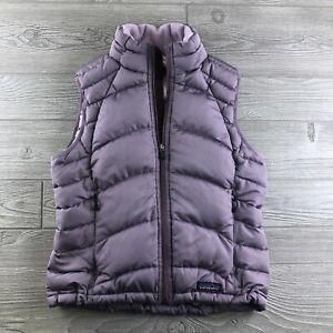 Patagonia-Women-039-s-Sz-Small-Full-Zip-Goose-Down-Puffer-Vest-Purple-Outdoor