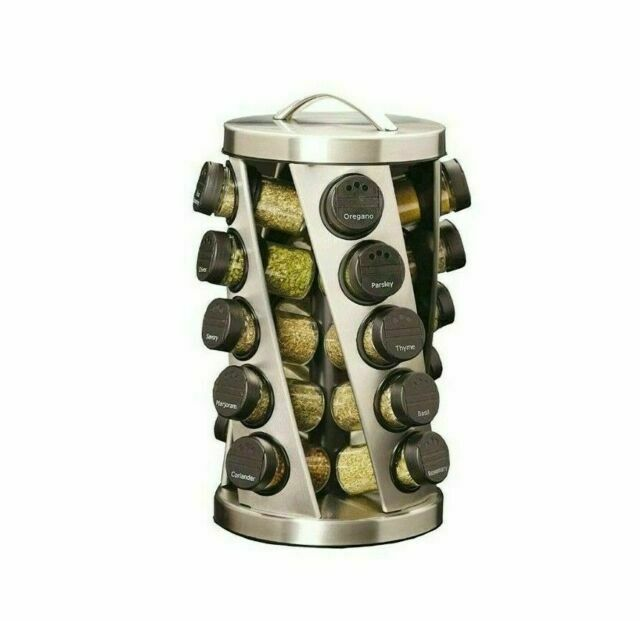 Kamenstein 20 Jar Revolving Stainless Steel Spice Rack - 1050200