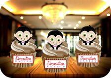 12 Novelty Halloween Cute Frankenstein Edible Cake Toppers Black Scary Spooky For Sale Online Ebay