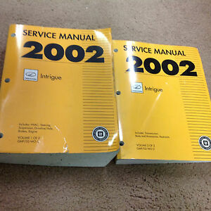 2002 oldsmobile intrigue service shop repair workshop manual set rh ebay com 2002 oldsmobile intrigue service manual oldsmobile intrigue service manual torrent