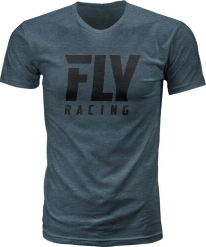 Fly Racing Logo /'18 Mens Short Sleeve T-Shirt Indigo