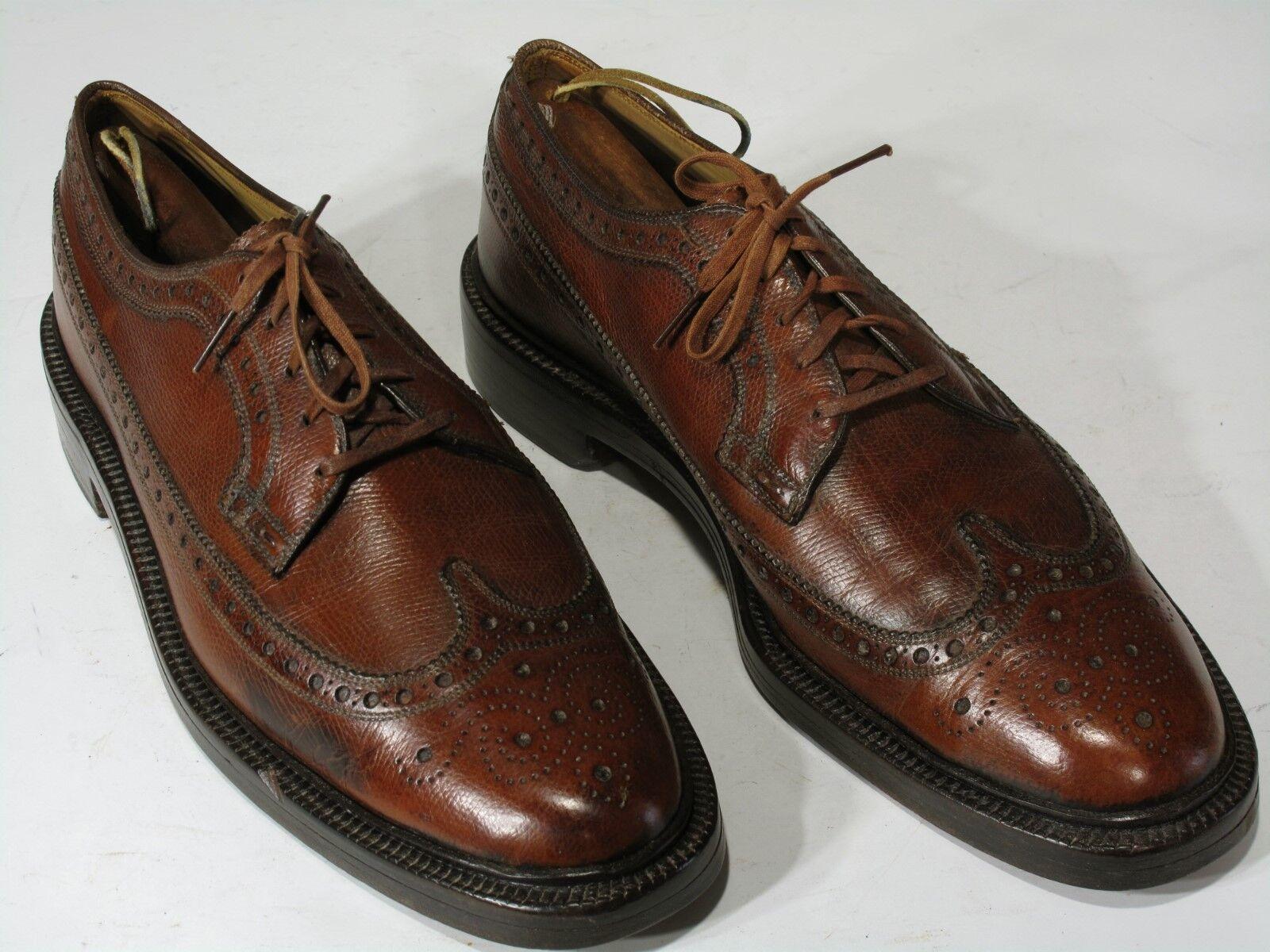 Vtg NETTLETON Wingtip Schuhes Leder 10 4A Extra Narrow, Whiskey Leder Schuhes Longwings. 94a12e