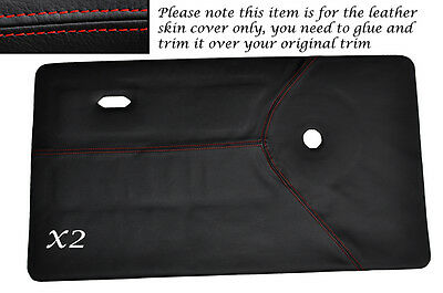 RED STITCH 2X FRONT DOOR CARDS LEATHER SKIN COVERS FITS MINI CLASSIC COOPER