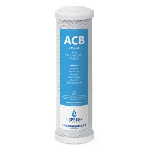 10 in ACB 5 µ environ 25.40 cm Charbon Actif Bloc Filtre à Eau Remplacement