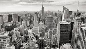 Image Is Loading NYC New York City Black Amp White Skyline