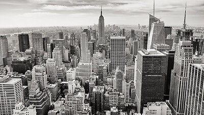 Nyc New York City Black White Skyline Self Adhesive Wallpaper Wall Mural Ebay