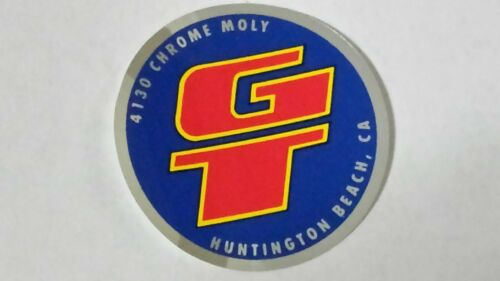 Old mid school NOS GT head badge bars coin decal bmx bike sticker 4130