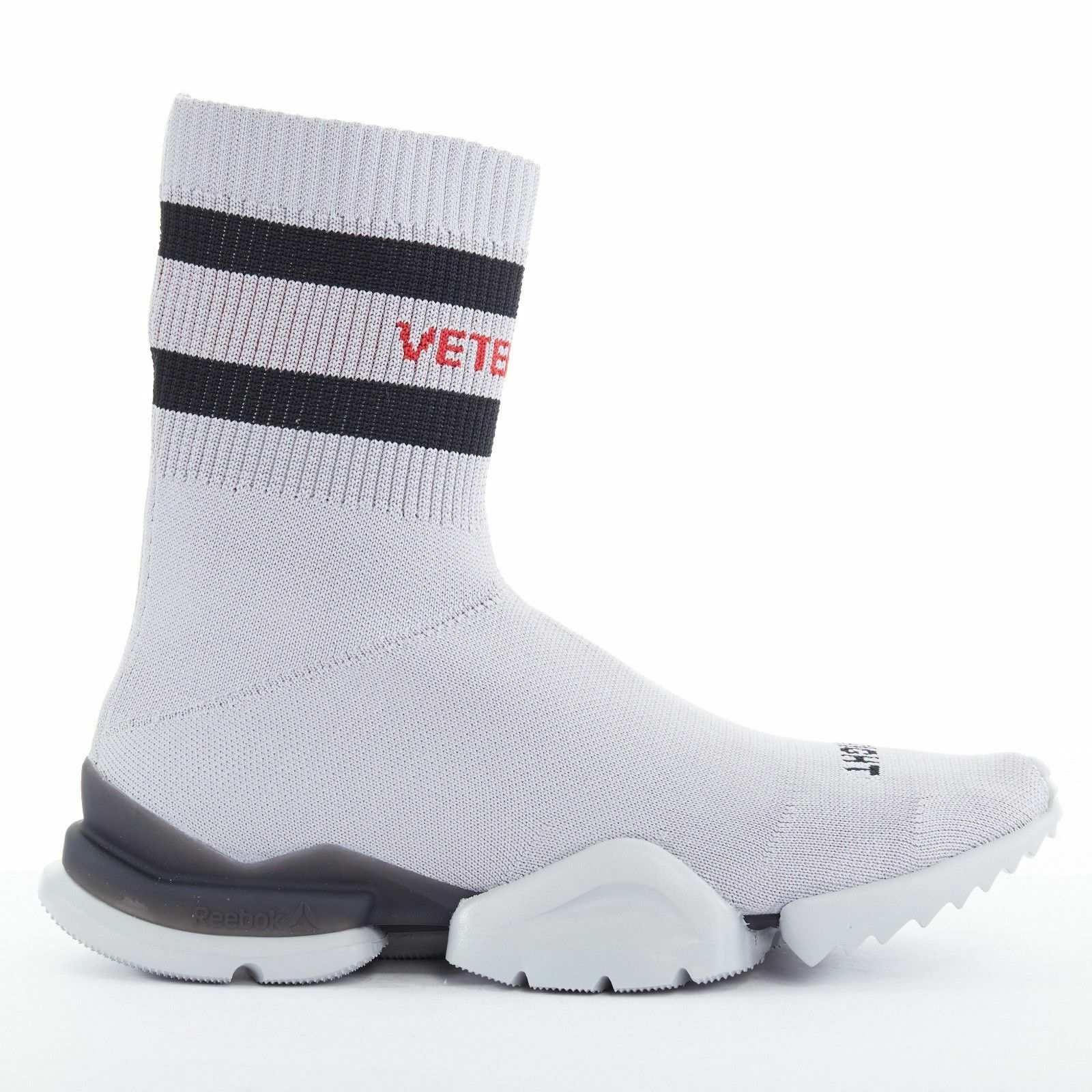 VETEMENTS Reebok Sock Runner Grey Sock