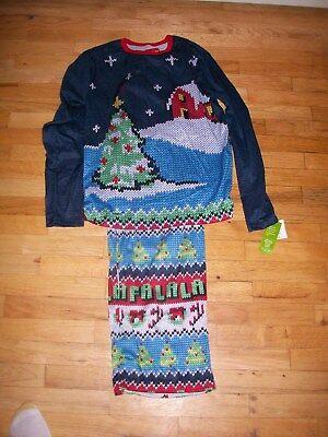 Sleepwear & Robes Women's Clothing Nwt Style Womens Pajama Set Christmas Fa La La La Perfect In Workmanship