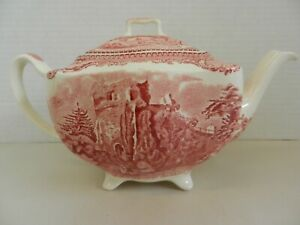 Old Britain Castles Teapot Johnson Brothers Pink