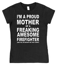 Proud Mother Freaking Awesome Fence Erector Son Ladies T-Shirt Funny Mum Day