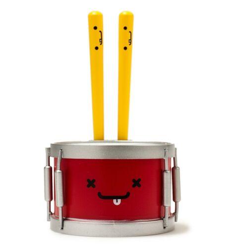 "Kidrobot BFFs Series 4 PEART /& WOOD BROS 3/"" Mini Vinyl Figure Drum /& Drumsticks"