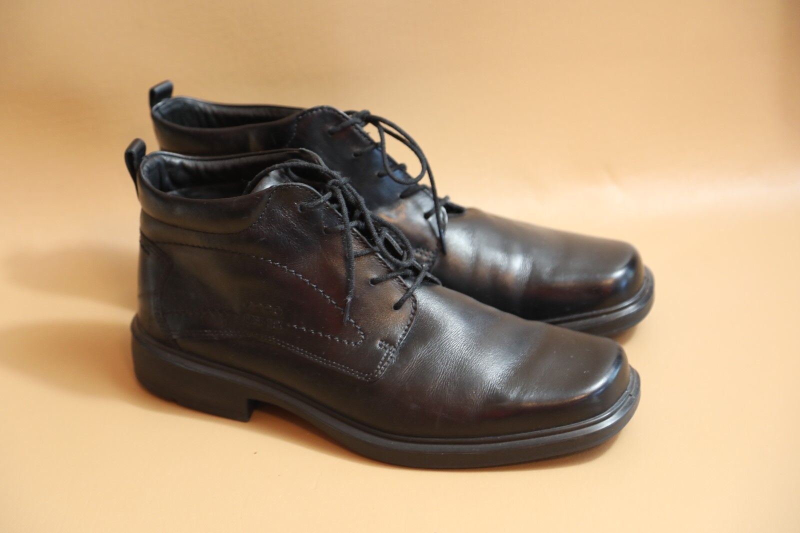 64 ECCO Black Gore-Tex Boots Size 46