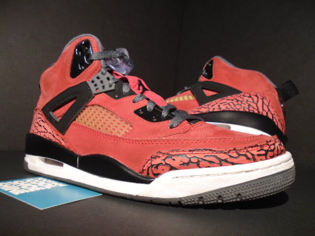 Nike Air Jordan SPIZIKE TGold BRAVO FIRE rot Weiß schwarz CEMENT grau 315371-601 8